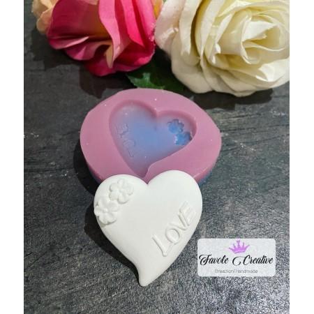 Stampo Cuore LOVE CON FIORE