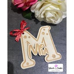"""Iniziale in legno """"M"""" con..."""