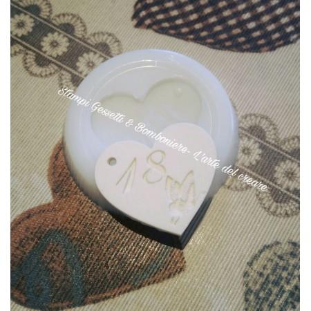 Stampo CUORE 18 COMPLEANNO...